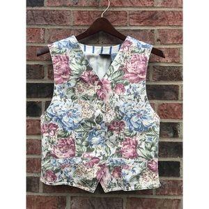 Liz Wear • Woman's Vintage Floral Lined Vest • S